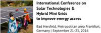 International Conference on Solar Tchnologies & Hybrid Mini Grids