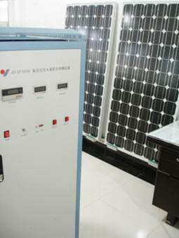 Advanced PV testing equipment with panels