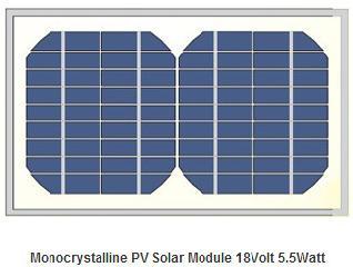 18V 5.5W monocrystalline pv module  5.5