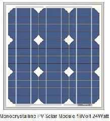 18V 25W mono solar module 24