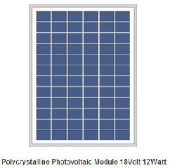 18V 12W polycrystalline PV panel 12