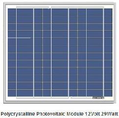 12V 29W photovoltaic solar panel