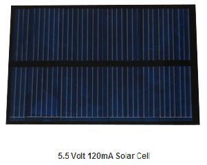 5.5V 120mA PET solar panel 0.66