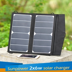 Sunpower 2*6W Solar Charger