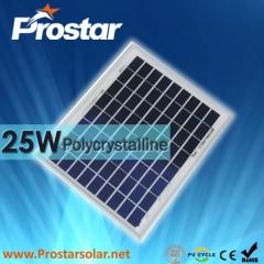 25W Poly Solar Panel 25