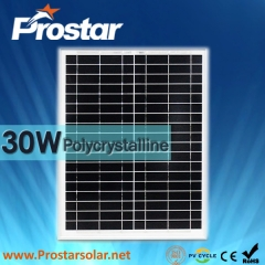 30W Poly Solar Panel