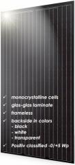 S-Class Vision 60 Black Frameless Mono 255~265