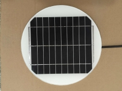 5W 5V 1A round lighting solar panel 5