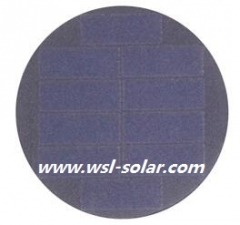 5V 40mA round solar panel - Sunpower solar cell panel 0.2