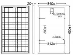 30-Watt 18-V poly solar panel 30