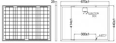 36W 18V 2A solar panel 36