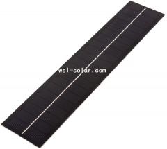 Long strip PET solar panel 2.3W 2.3