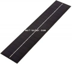 Long strip PET solar panel 2.3W