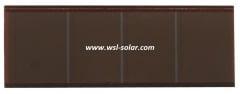 Thin film glass solar cell