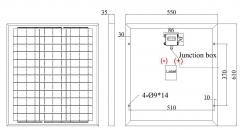 45W 18V polycrystalline solar panel 45