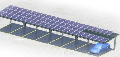 Solar Carport - Single Row (Cantilever-Down)