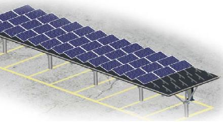 Solar Carport - Single Rows (Middle pole)