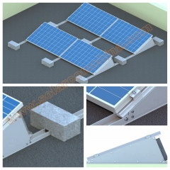 Adjustable Flat roof mounting system-Windstream System