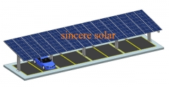 Single Rows Middle pole Solar Carport Mounting System