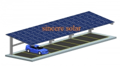 Single Rows Cantilever beam Solar Carport Mounting System