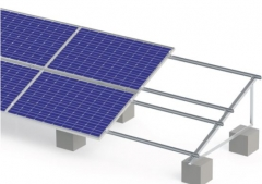 Adjustable angle solar mounting system